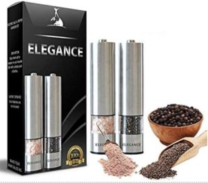 Battery Operated Stainless Steel Pepper Salt Mill with Light