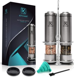USB Rechargeable Electric Salt and Pepper Grinder