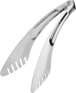 Stainless Steel Kitchen Cooking Tongs for Pasta, Noodles, BBQ, & Buffet
