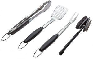 BBQ Grill Tool Set (Tongs, Spatula, Fork and Brush)
